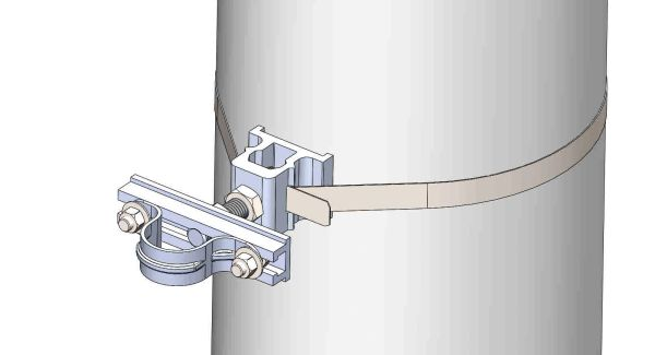 "NW-3QB-.75-5U-1.25X--------Mount a 1.25"" conduit on concrete or steel pole with 3/4"" Stainless Steel banding."