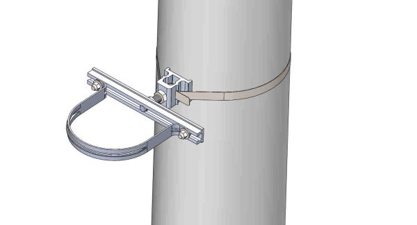 "NW-3QB-.75-11U-6X----Mount a 6"" conduit on concrete or steel pole with 3/4"" Stainless Steel banding."