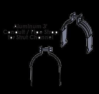 3 Inch Aluminum Strut Strap