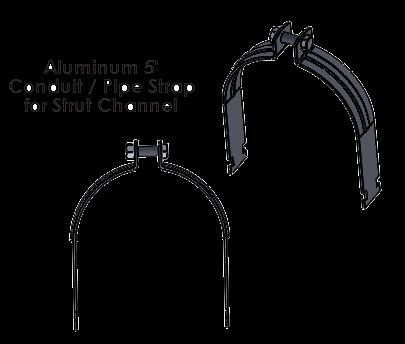 5 Inch Aluminum Strut Strap