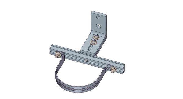 "NWA-10-5X----Mounts a 5"" conduit. Adjusts from 4.5- 6 inches off the pole."