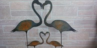 Custom Metal Art and Garden Art by LANDDelements division of LANDDescapes, LLC Landscape Design Contractor