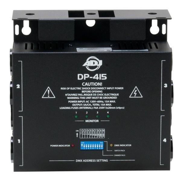 American DJ DP-415 4-Ch DMX 512 Dimmer/Switch Pack