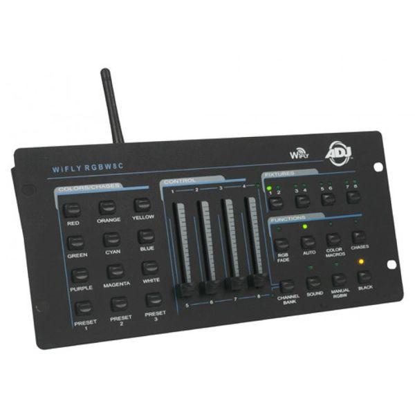American DJ WiFly RGBW8C 64-Channel DMX Controller