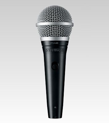 Shure PGA48-QTR Cardioid Dynamic Vocal Microphone w/ XLR-1/4in Cable