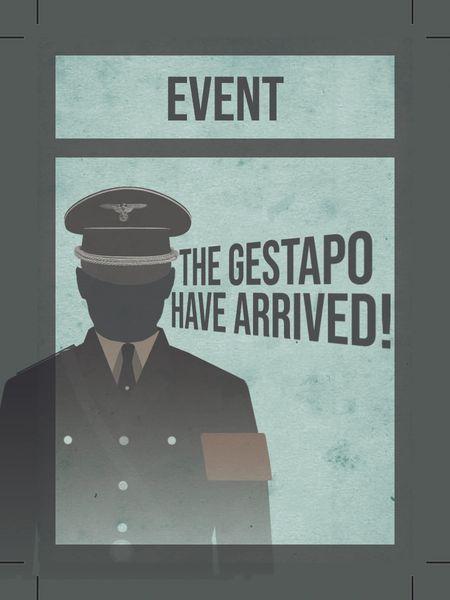 La Résistance Gestapo Event Cards
