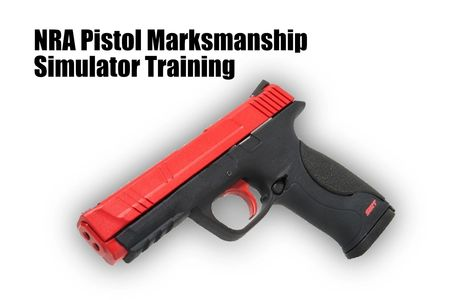 Pistol Marksmanship Simulator Training Youth