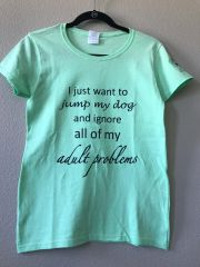 Jump My Dog T-Shirt (Ladies)