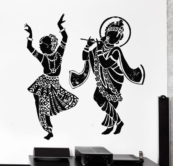 79f97210905 Dancing God Radha Krishna Wall Stickers Wall Decals