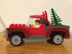 40083 red truck & tree