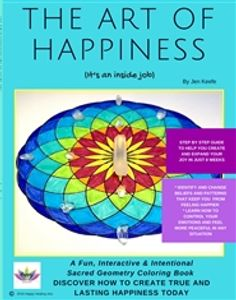 happiness, self help coloring book for young adults