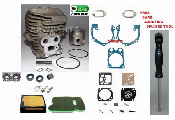 <>HUSQVARNA, Partner K750 CYLINDER KIT NIKASIL 51MM 3 Bearing-Seal-Filter-Gasket