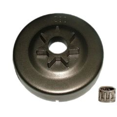 "STIHL 029, 034, 036, 039, MS290, MS310, MS311, MS340, MS360, MS390 CLUTCH DRUM WITH BEARING AND 3/8"" pitch, 7 tooth SPUR TYPE SPROCKET"