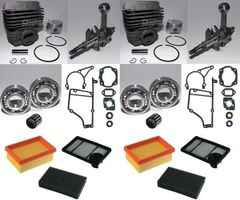 STIHL TS400 OVERHAUL REBUILD KIT STANDARD 49MM 2-PACK + BONUS AIR FILTER COMBO