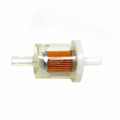 "CLEAR FUEL FILTER 5/16"" BARBS FITS MANY MODELS"