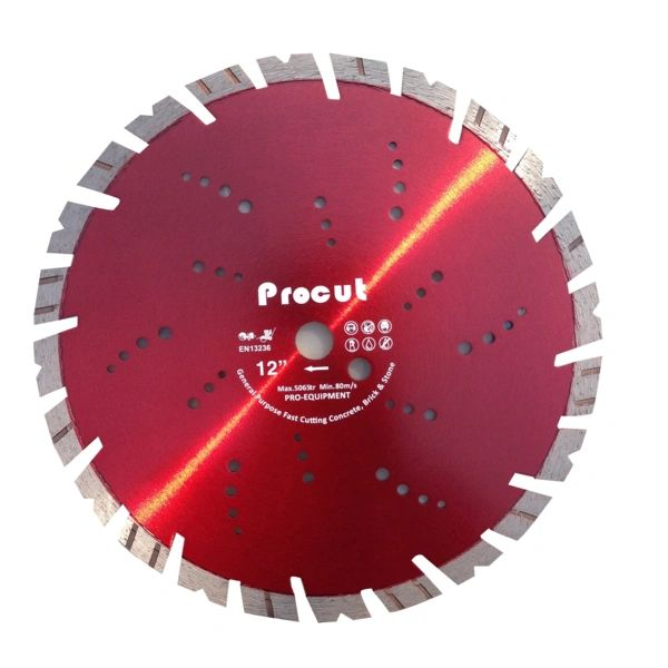"12"" LASER WELDED DIAMOND wet-dry SAW BLADE"