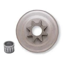 "<>HUSQVARNA L65, 77, 160, 181, 185, 260, 263, 280, 285, 380, 480, 1100, 2100 CLUTCH DRUM, BEARING AND 3/8"" 8 TOOTH SPUR SPROCKET"