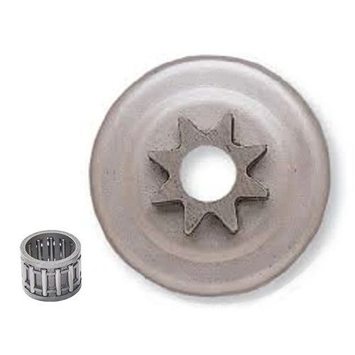 "HUSQVARNA L65, 77, 160, 181, 185, 260, 263, 280, 285, 380, 480, 1100, 2100 CLUTCH DRUM, BEARING AND 3/8"" 8 TOOTH SPUR SPROCKET"