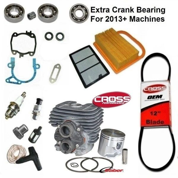 <>STIHL TS410 REBUILD KIT Cross Performance BRAND NIKASIL 50MM