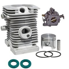 <>STIHL MS170, 017* CYLINDER KIT STANDARD 37MM 8-PIN WITH OIL SEALS AND ZAMA CARBURETOR