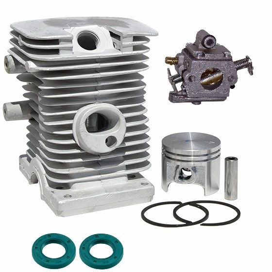 <>STIHL MS180, 018* C-BZ CYLINDER KIT STANDARD 38MM 10-PIN WITH OIL SEALS AND ZAMA CARBURETOR