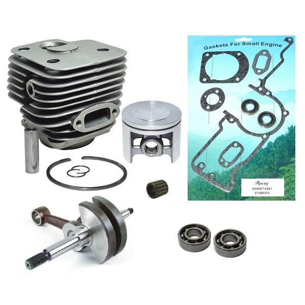 <>HUSQVARNA 272 Hyway BRAND POP-UP PISTON OVERHAUL REBUILD KIT NIKASIL 52MM