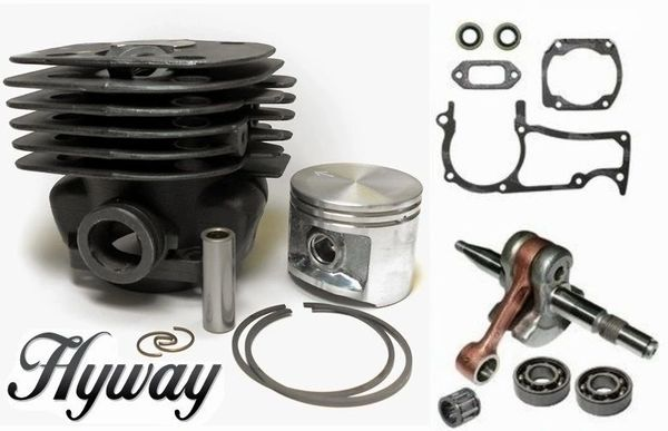 <>HUSQVARNA 371K, 371, 372, 375, 362, 365 Jonsered 2065, 2071, 2165, 2171 *EPA Hyway CYLINDER PISTON OVERHAUL KIT NIKASIL 50MM