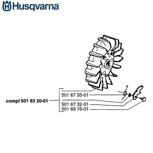 <>HUSQVARNA O.E.M. ORIGINAL FLYWHEEL FITS 165RX, 265RX