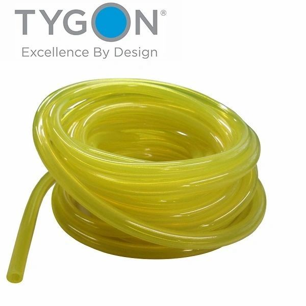 "FUEL LINE CLEAR YELLOW (ORIGINAL TYGON) 1/4"" ID X 3/8"" OD"