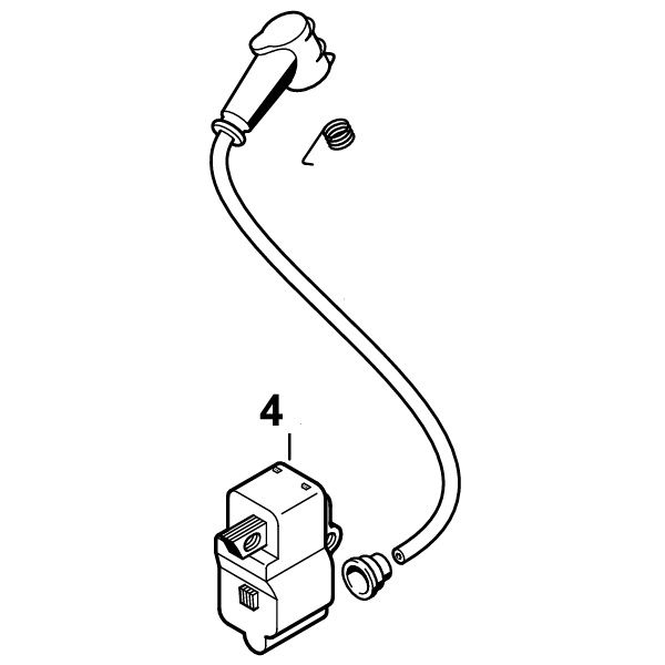<>STIHL TS700, TS800 O.E.M. ORIGINAL LATE MODEL IGNITION COIL WITH WIRE AND CAP
