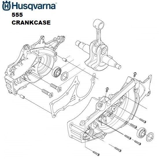 HUSQVARNA 555 XP, XPG O.E.M. COMPLETE CRANKCASE