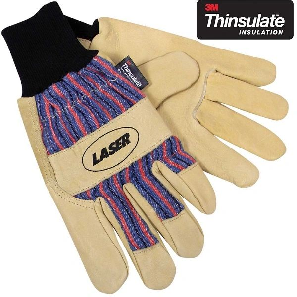 <>STEERHIDE Leather 3M Thinsulate Thermal Work Gloves Large