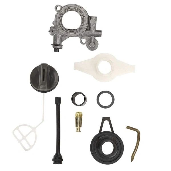 <>Husqvarna 362, 365, 371, 372, 385, 390 Jonsered 2063, 2071, 2163, 2165, 2171, 2172, 2186, 2188 OIL PUMP, WORM GEAR, LINE, PIPE COMPLETE REPLACEMENT KIT