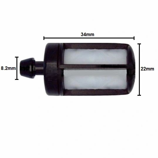 STIHL LARGE SIZE FUEL FILTER FITS MANY MODELS