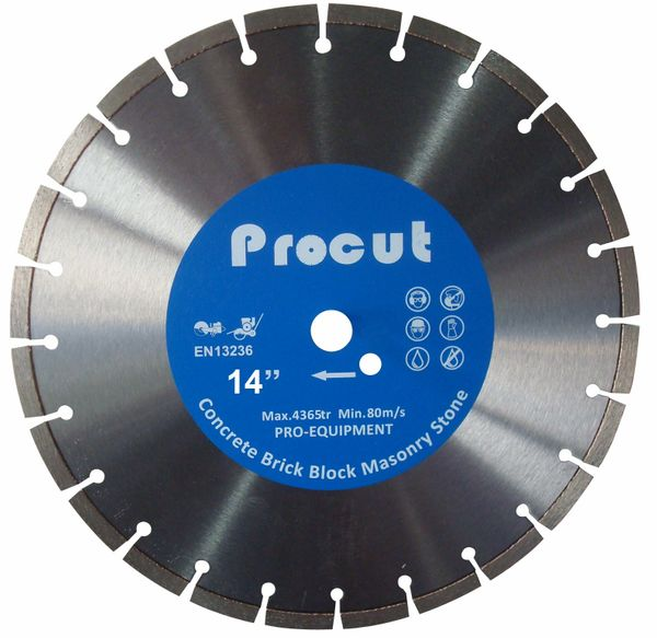 "14"" LASER WELDED DIAMOND SAW BLADE GENERAL USE 0835 090 7029"