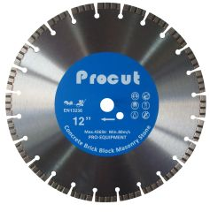 "12"" TURBO LASER WELDED DIAMOND SAW BLADE GENERAL USE 0835 090 7007"