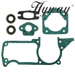 HUSQVARNA 50, 51, 55 GASKET SET WITH OIL SEALS