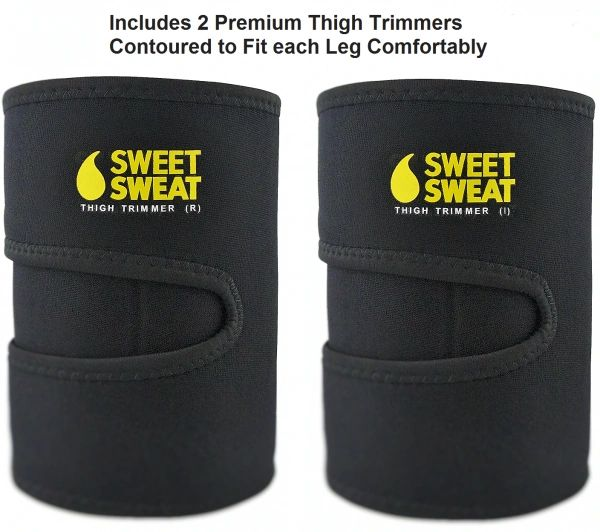 Sweet Sweat Thigh Trimmers (PAIR) Yellow