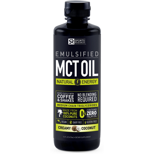 Emulsified MCT Oil - Creamy Coconut Flavor