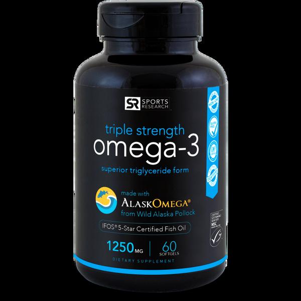 Omega-3 Fish Oil AlaskaOmega® (1250mg), 60 softgels