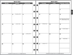 LVJ Monthly Planner, 2 Pages per Month, 6-Columns, No Lines