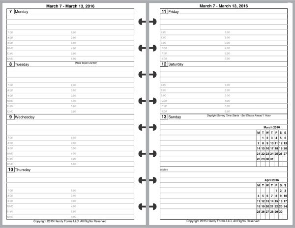 LVJ Weekly Planner, 2 Pages per Week, 2 Pages per Month, with Lines, with Appt Times