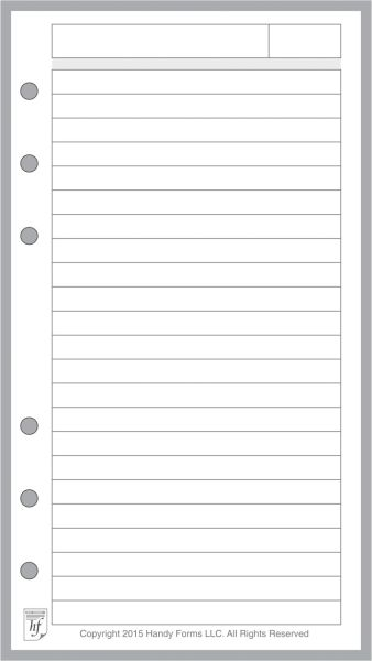 FPL Note Pages