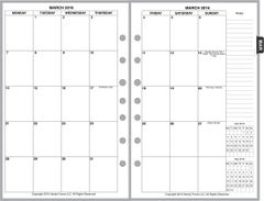 FCS Monthly Planner, 2 Pages per Month, 8-Columns, No Lines