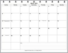 LVL Monthly Planner, 1 Page per Month, 7 Columns, Horizontal, No Lines