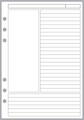 A5 Note Paper Designed for the Cornell Notetaking System
