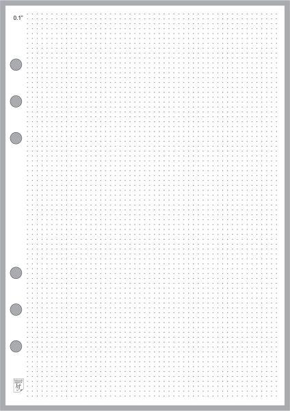 "A5 Dot Grid Paper 0.10"""