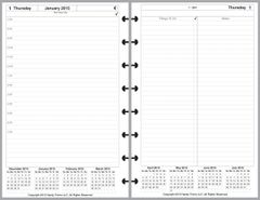 LVJ Daily Planner, 2 Pages per Day, 3 Pages per Month (Style C)
