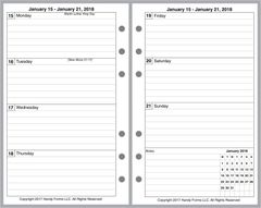FCC Weekly Planner, 2 Pages per Week, 2 Pages per Month, with Lines, No Appt Times, Style A