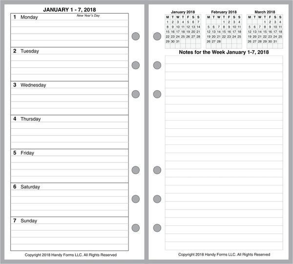 FPL Weekly Planner, 2 Pages per Week, 2 Pages per Month, with Lines (Style E)